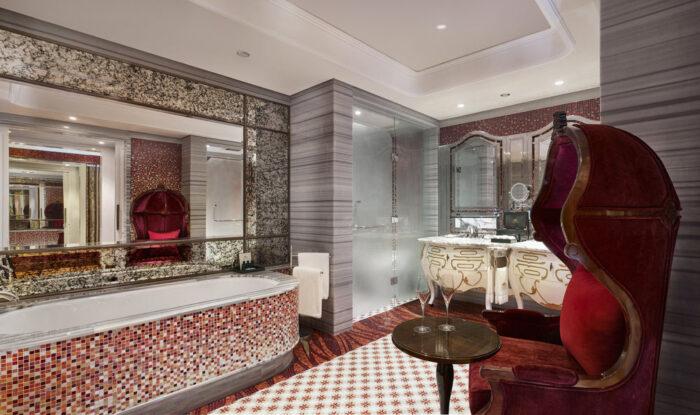 Un baño espectacular