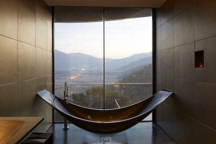 Un baño hecho para una selfie, en Vik en Chile