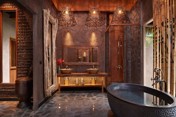 Baño de hotel amigable para Instagram en Keemala