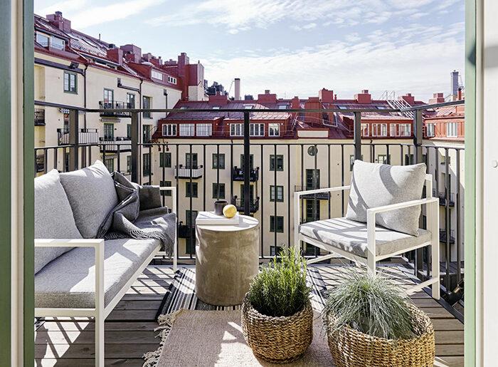 Balcón escandinavo de lujo en Estocolmo