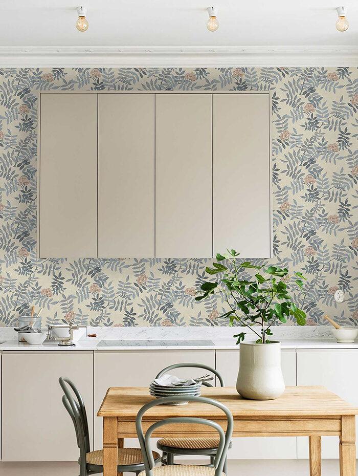 Papel pintado estampado en la cocina une la impresión