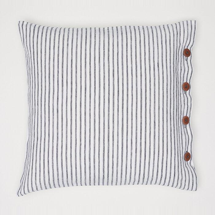 Funda de almohada a rayas en lino de H&M Home