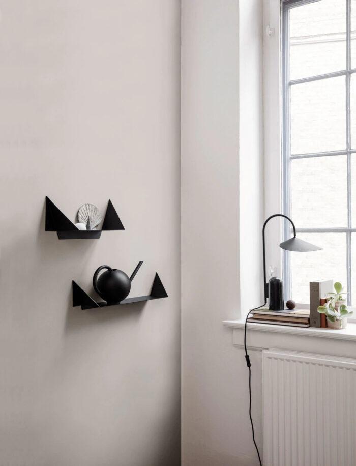 Estante de pared escultural de moda