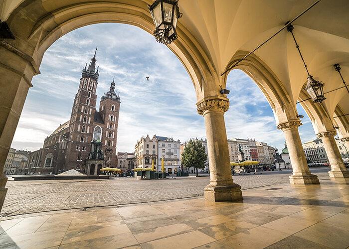 Cracovia en Polonia atrae a muchos suecos este año