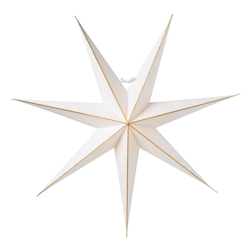 adventsstjärna med linje från watt & veke