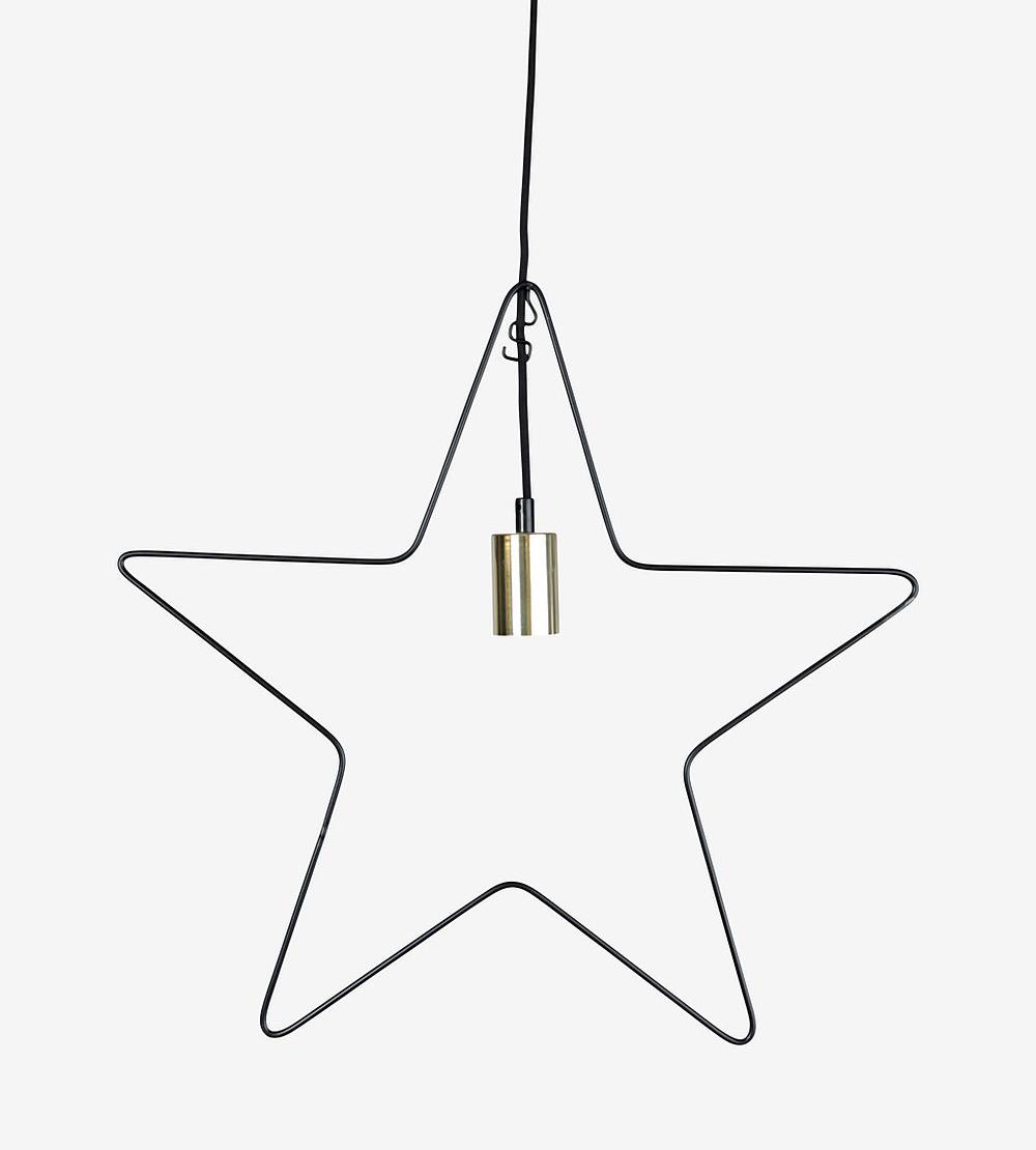 Adventsstjärna i svart metall från Star Trading