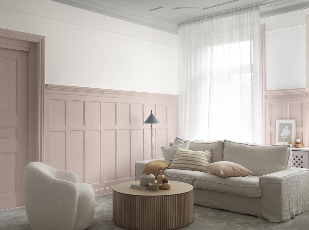 Dämpade rosa toner hos Alcro 2020.