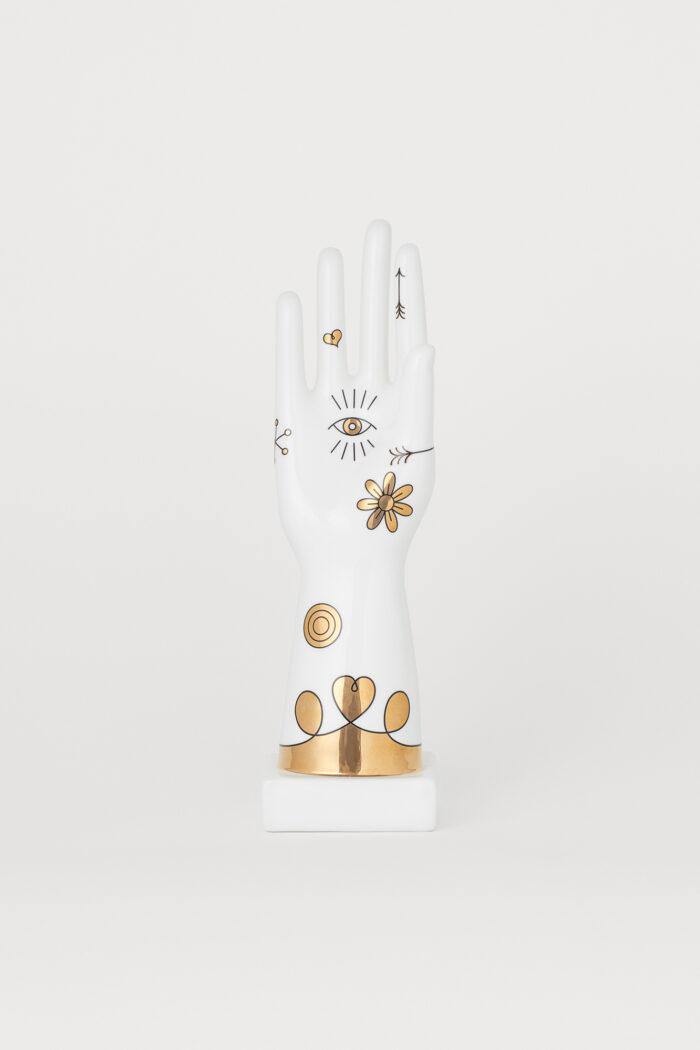 Vit hand/arm-skulptur från Jonathan Adler x H&M