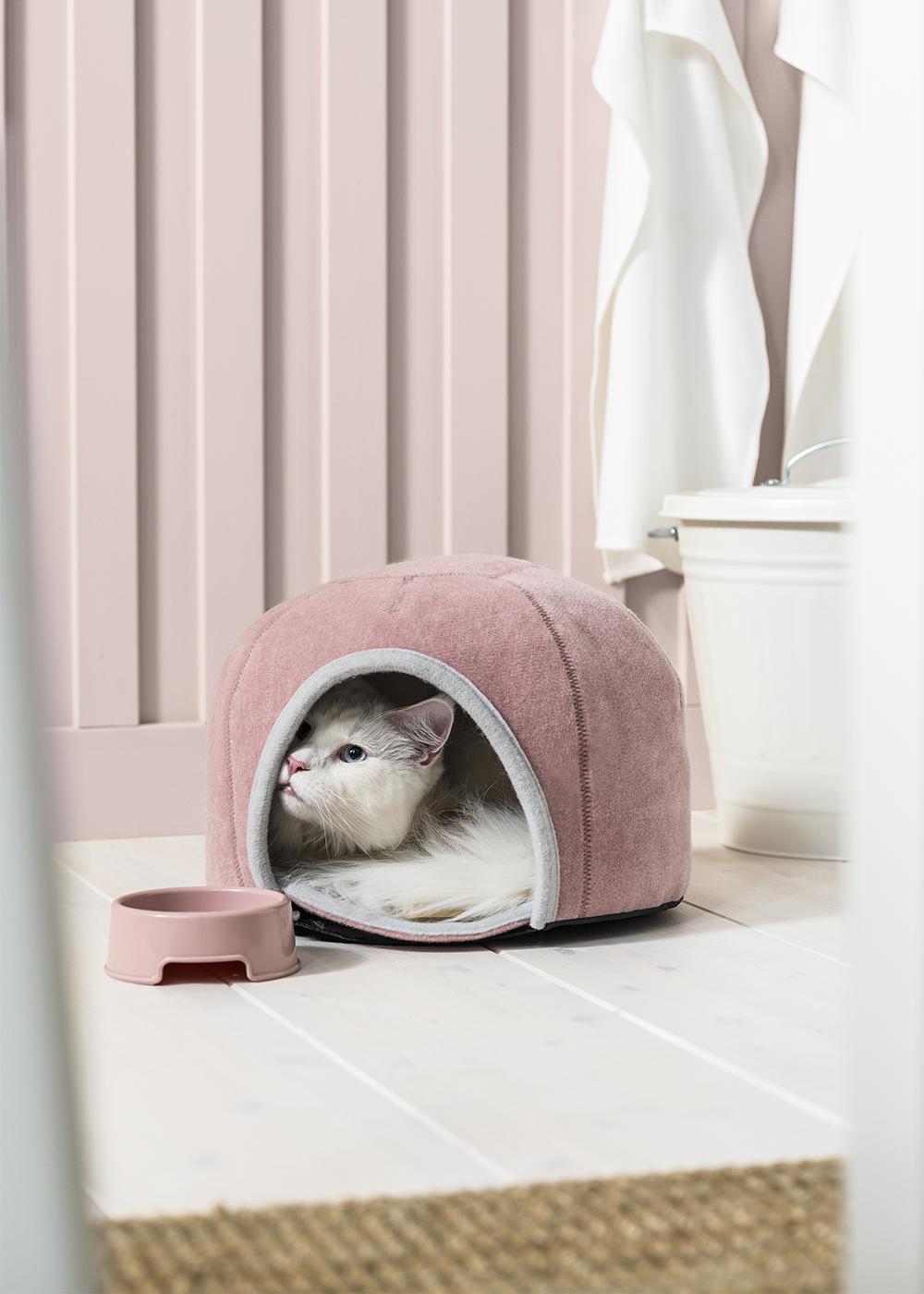 Katthus i rosa från Ikea