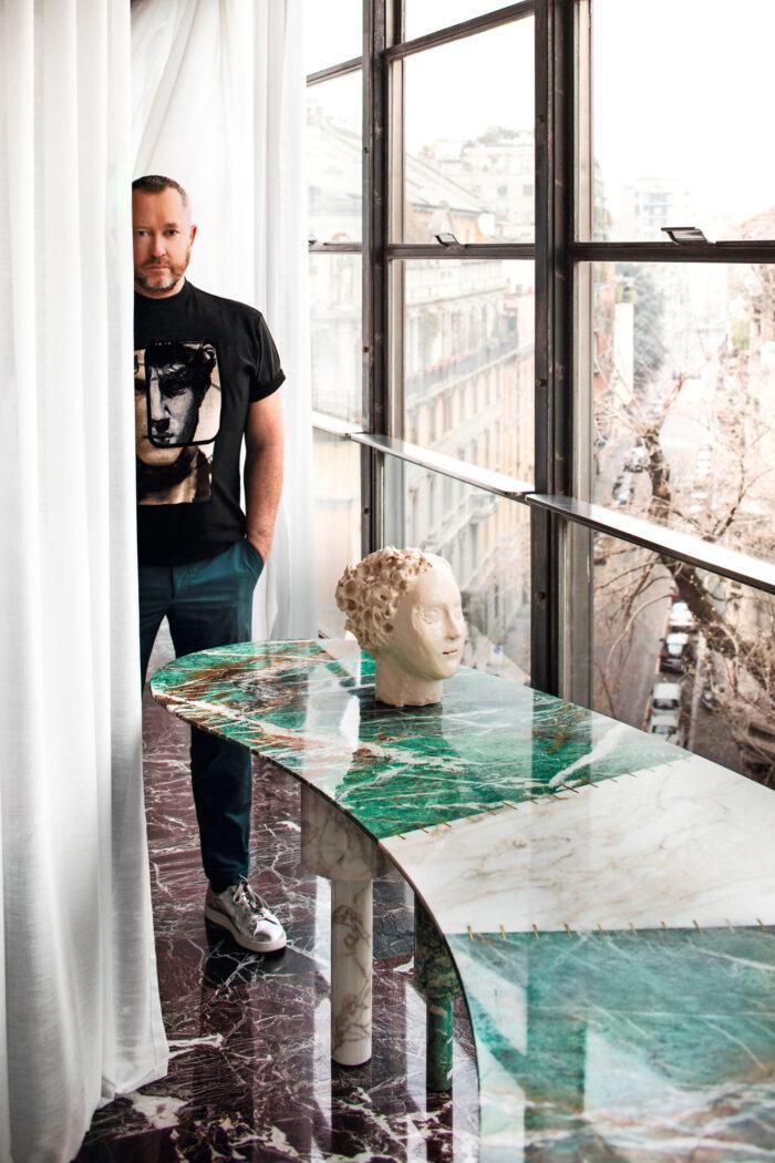 Experimentell färgfest hos arkitekten i Milano