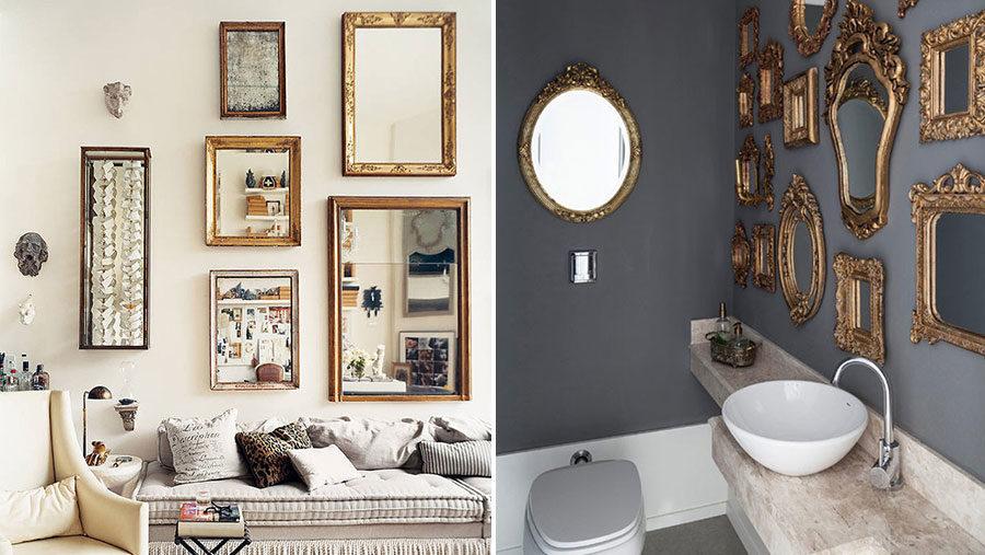 Dekorera din vägg med speglar – 10 tips!
