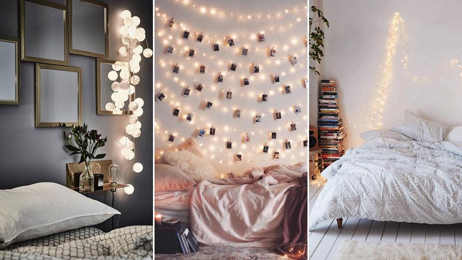 Kända Inred med ljusslingor i sovrummet – 7 tips | ELLE Decoration KD-81