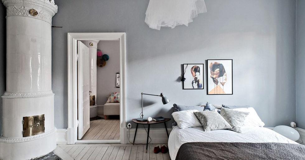 grå väggfärg hall