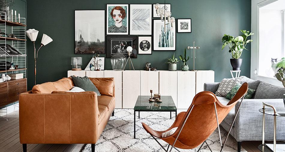 Säker stilmix med vintage, moderna inslag och ett drömmigt sovrum