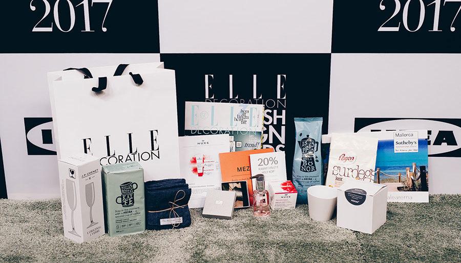 Vinn en lyxig goodiebag från ELLE Decoration Swedish Design Awards!