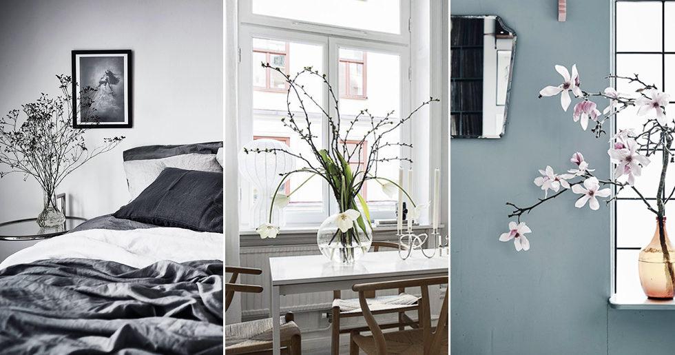 Vårstyla ditt hem med fina kvistar –11 inspirerande tips