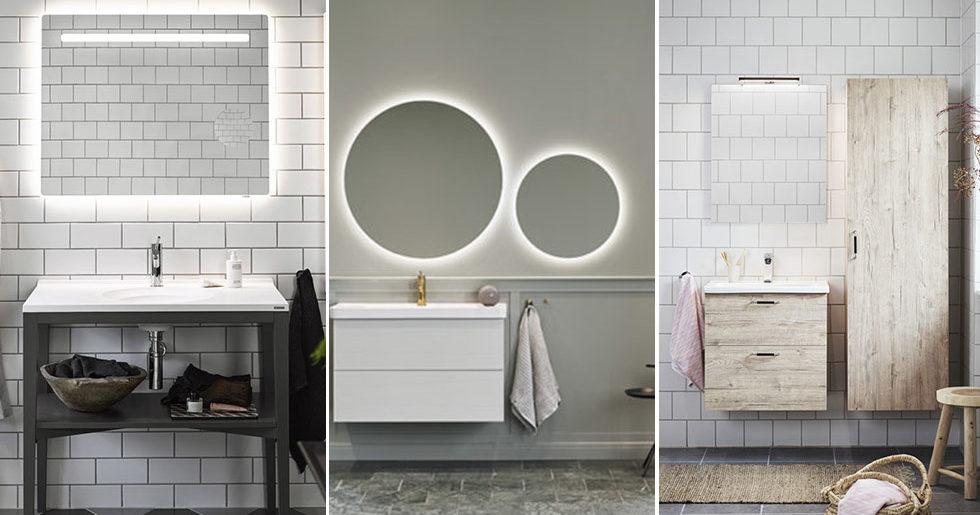 Snygga detaljer och smart förvaring –våra 8 badrumsfavoriter från Vedum