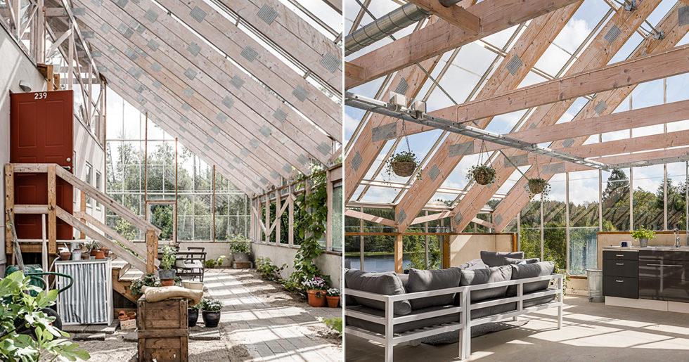 Häftiga naturhuset till salu – bo inuti ett växthus