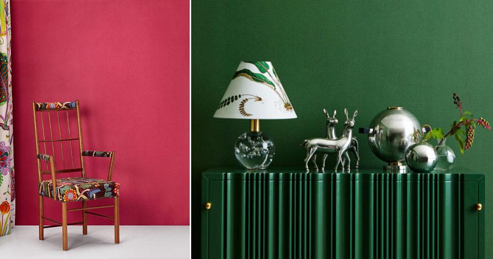 Här är Svenskt tenns nya (helt ljuvliga!) tapetkollektion – i sex klassiska färger