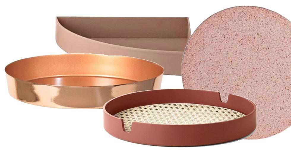 8 snygga brickor i trendigt rosa och rost