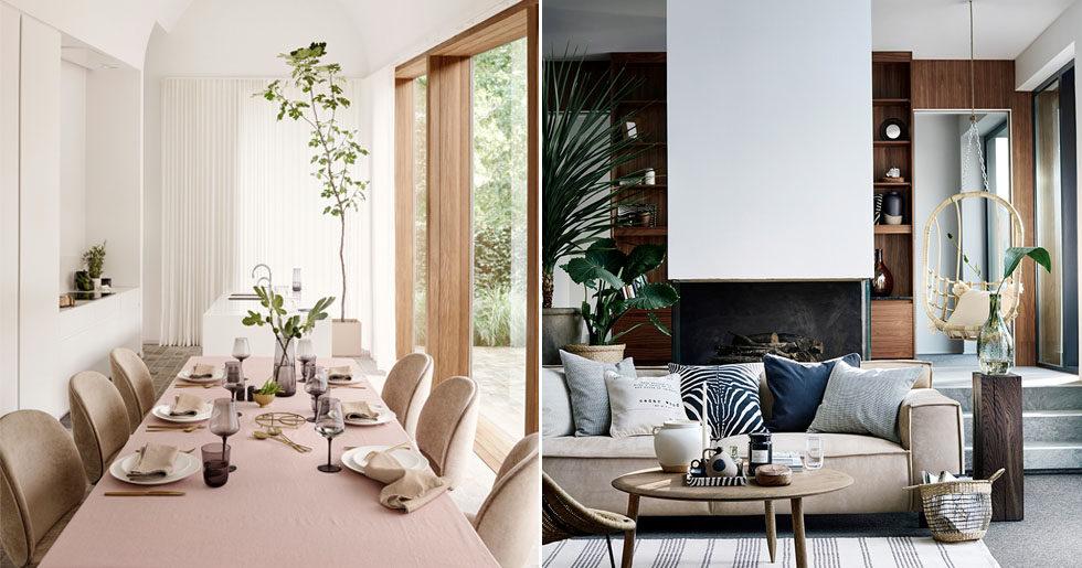 Våren på H&M Home är här – med rosa toner och råa material