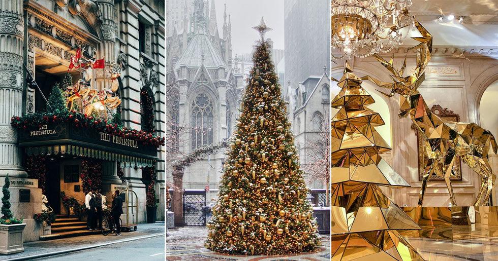 6 storstadshotell med de bästa juldekorationerna