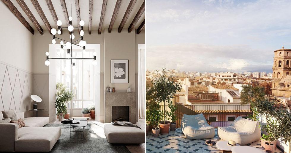 Lyxiga bostäder i Palma - med skandinavisk inredningsstil