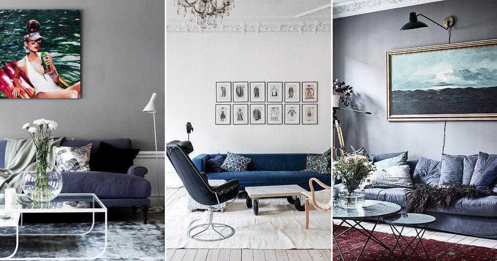 Fantastisk Styla den blå soffan – inredningstips   ELLE Decoration QQ-62