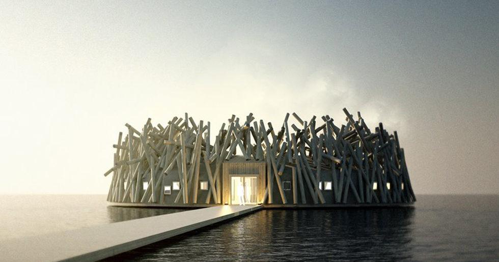 Arkitektritat spahotell ska flyta på Luleälven