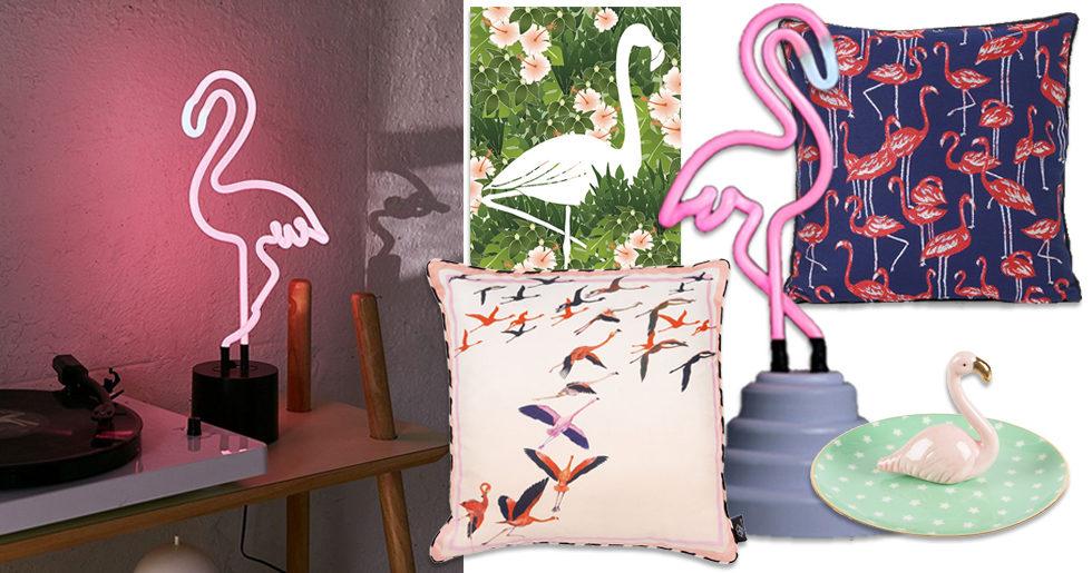 Shoppingtips: 7 fina sätt att inreda med trendiga flamingodetaljer