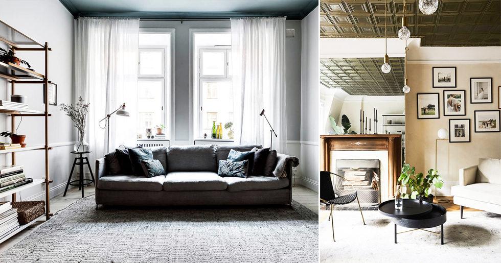 Glöm väggarna – målade tak är den nya trenden