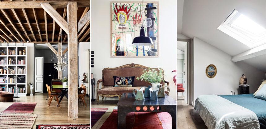Kreativt och banbrytande hem i hjärtat av Paris