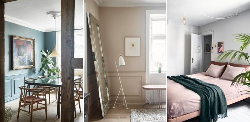 Pampig våning med modig och färgstark inredning