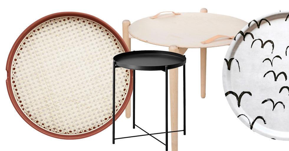 9 praktiska brickor och brickbord – för alla tillfällen