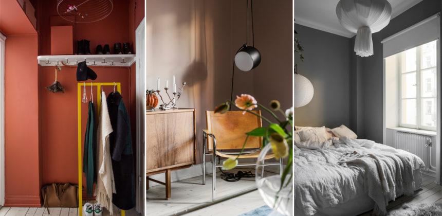 Kreativ lägenhet med färg och smarta lösningar