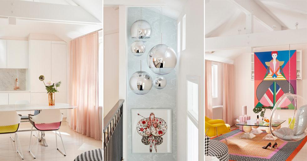 Designerns fantasifulla hem med mjuka pasteller