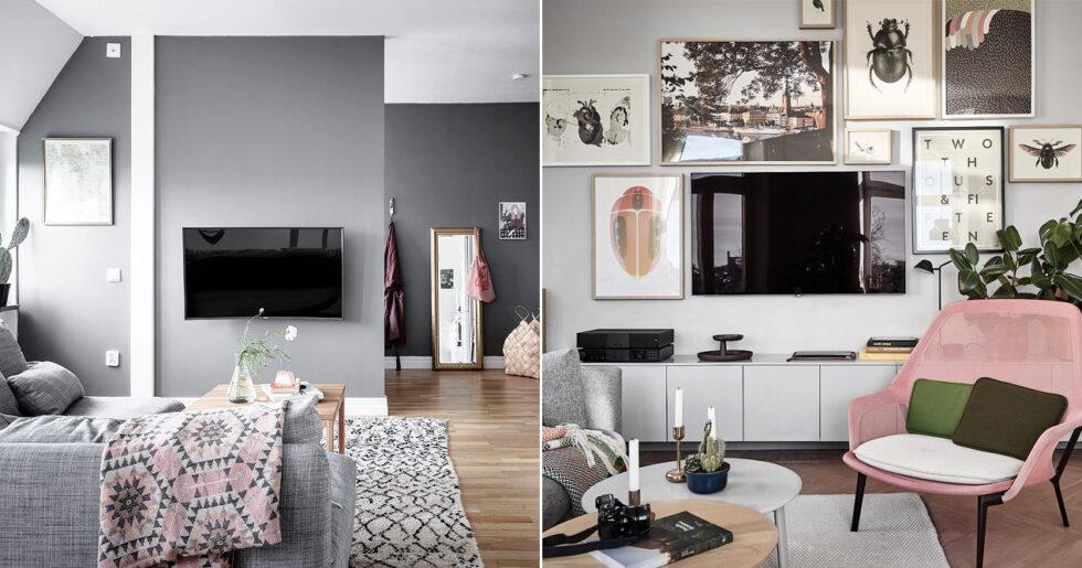 Toppen 5 vanliga missar många gör med tv:n när de inreder | ELLE Decoration TZ-64