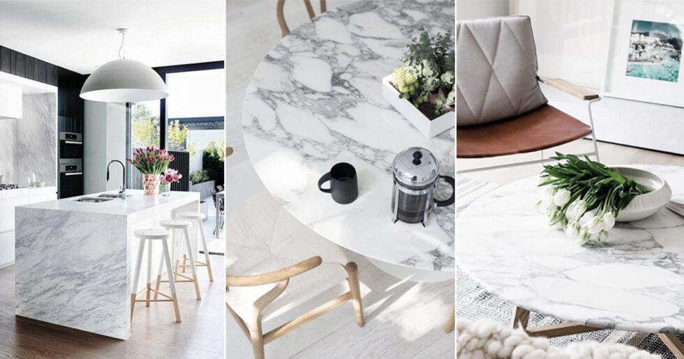 få bort fläckar från marmor