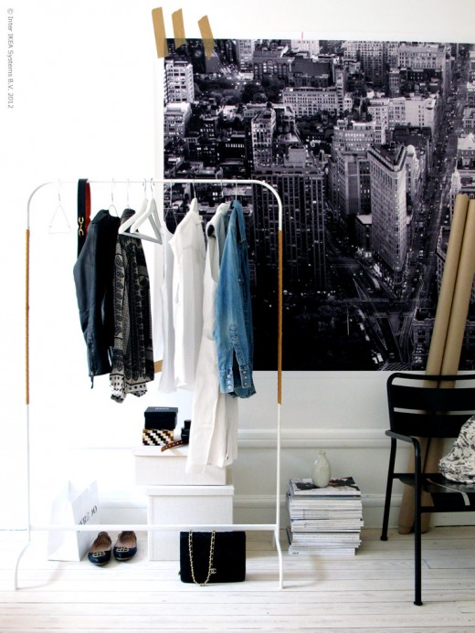 pimpad ikea-möbel, snygga klädhängare, snygga klädhästar