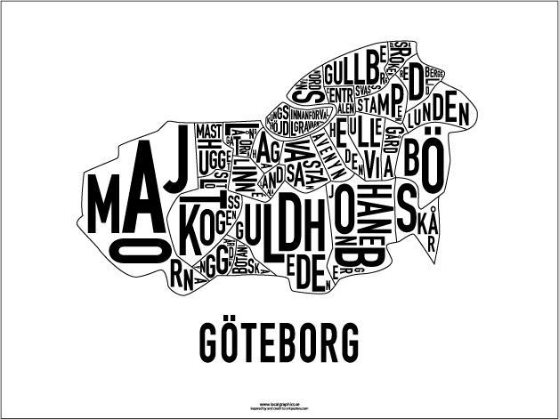 karta över göteborg stadsdelar Localgraphics till Göteb| Tant Johanna karta över göteborg stadsdelar