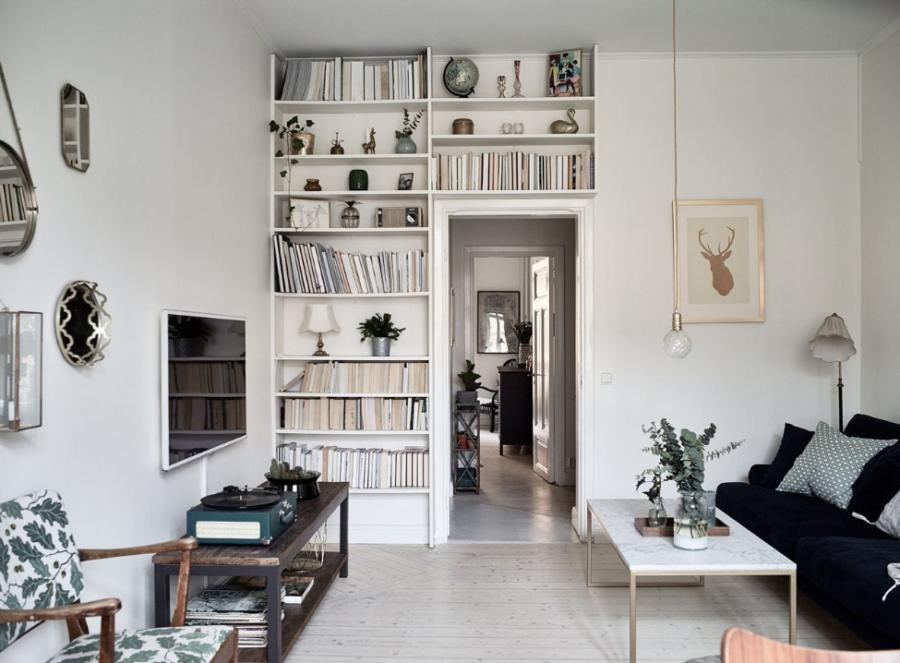 book shelf over door