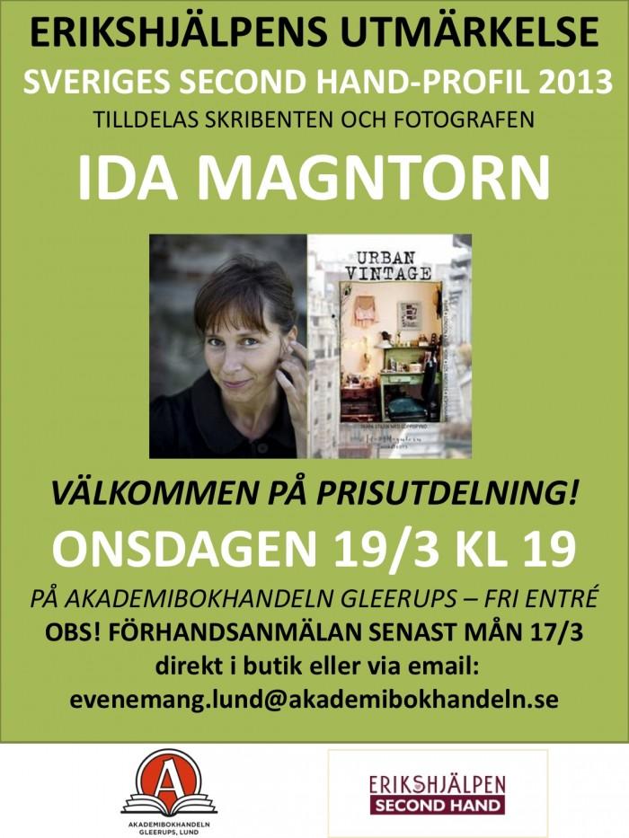 Årets Second hand profil, Erikshjälpen, Ida Magntorn