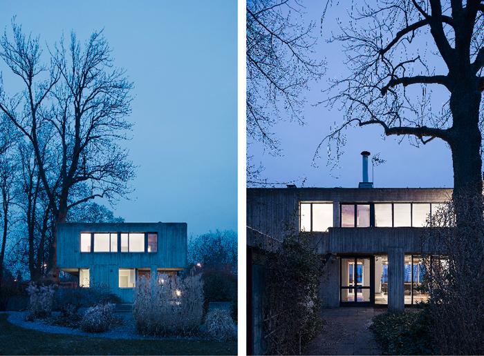 Leonie-(Lola)-Geisendorf-villa-betong-djursholm-utsikt-kvall