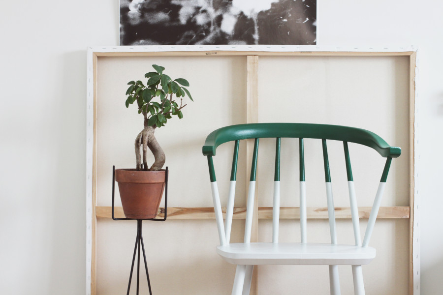 DIY halvmålad stol2