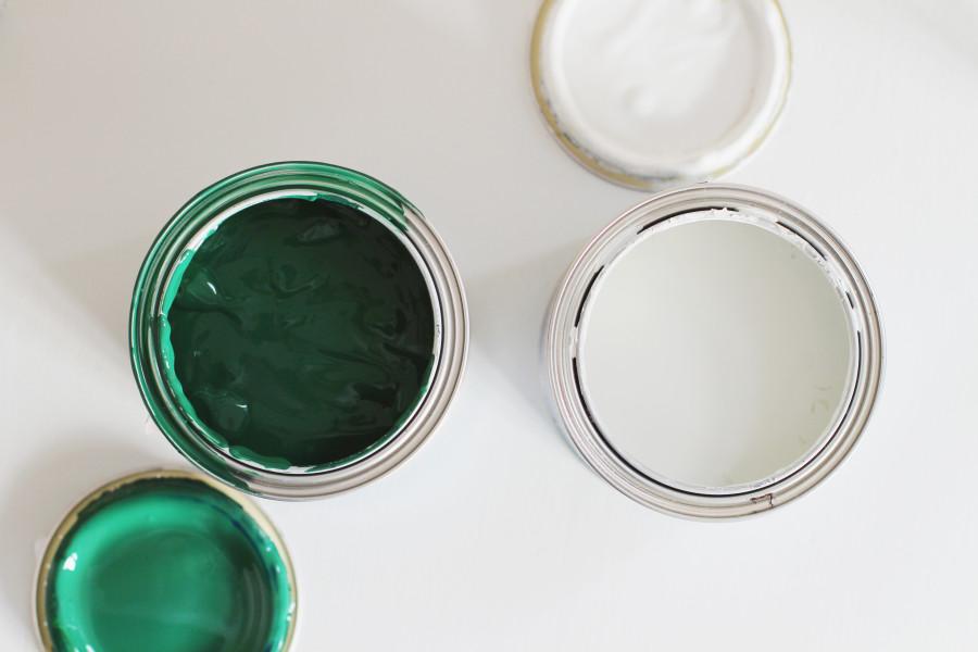 färgerna DIY halmålad stol