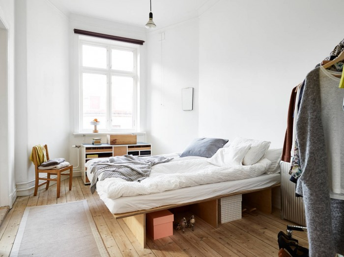 stadshem kungsgatan 9b bedroom diy plywood bed ems designblogg