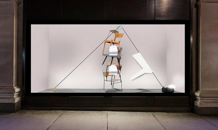 AGENDER_window display chairs selfridges