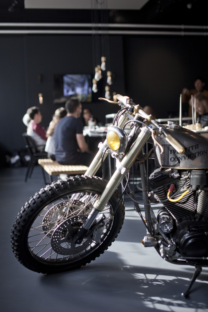 London_LindaElmin_buster and punch motorcycle showroom