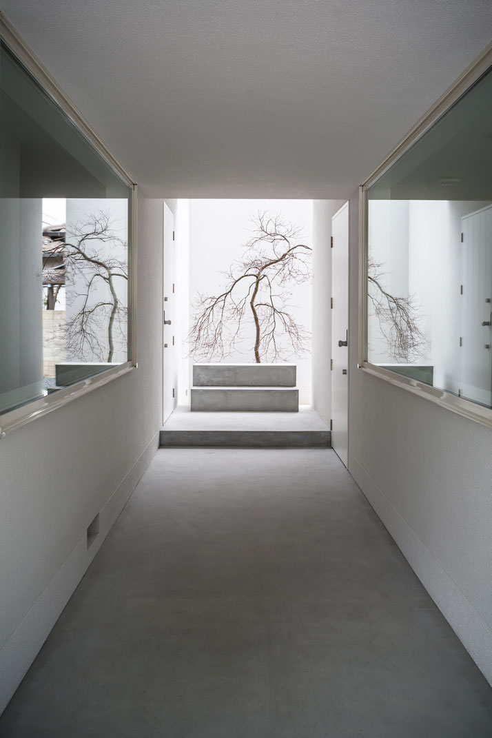 Combined art gallery and living space in japan ems for Minimal art gallery