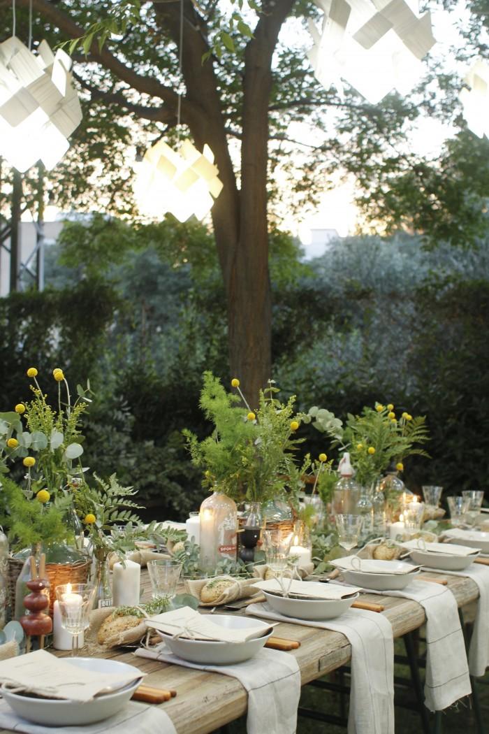LZF Garden Party Sunset Dinner Table